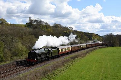 46100 T n T  57316 1Z86 1006 Penzance to Bristol Temple Meads Gibraltor Bridge, Cullompton 1548 