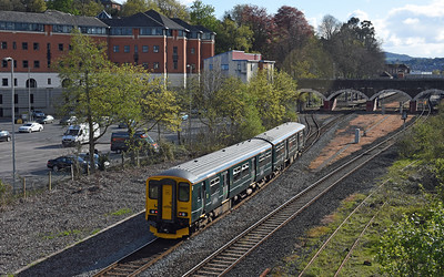 150247  5T25 1728 Exeter New Yard to Exeter Central Howell Road, Exeter Central 1745