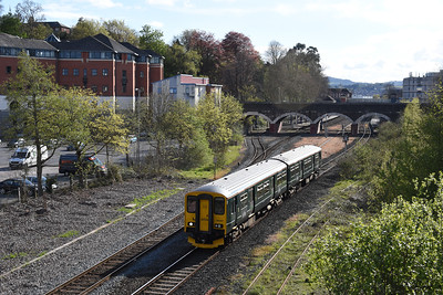 150247  5T25 1728 Exeter New Yard to Exeter Central Howell Road, Exeter Central 1734